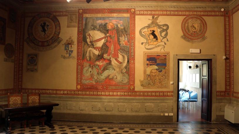 Villa_pecori_giraldi,_sala_degli_stemmi_di_pietro_alessio_chini_e_dei_suoi_figli_e_nipoti_01